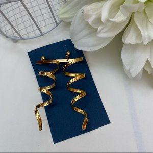 Gold tone Swirl Earrings